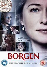 BORGEN  Series 3 Complete All Episodes 3rd Third Season (2012) 3-Disc New UK DVD