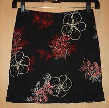 Ricki's Skort / Skirt~Sz 8~Black, Tan, Red & Peach Abstract Floral~Above Knee