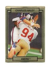 Charles Haley 49er del 1990 TRADING CARD # 243 con effetto 3D