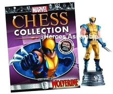 MARVEL CHESS COLLECTION #3 WOLVERINE NEW EAGLEMOSS SUPERHERO FIGURINE (1 2)