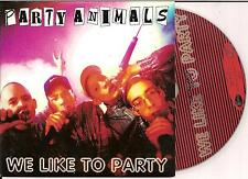 PARTY ANIMALS - we like to party CD SINGLE 2TR Happy Hardcore 1997 RARE!!