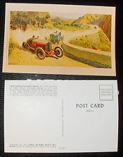 Vintage Postcard Post Card 1924 Targa Florio Race Painting by Pete Helck -- 1963