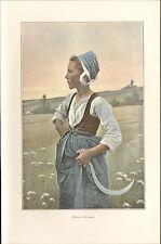 29 PAYSANNE BRETONNE IMAGE EN COULEURS 1901