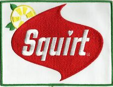 """Squirt Soda Patch Embroidered 6""""x 8"""" Mint"""