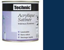 PEINTURE ACRYLIQUE TECHNIC SATIN 0.5 L BLEU MARINE lessivable sans odeur