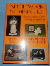 Needlework in Miniature (1988, Hardcover) Doll House Tapestries Chairs Rugs