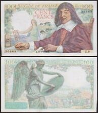 100 FRANCS 1942 FRANCE [SUP / XF] Descartes - P101 (Z.9)