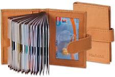 Rimbaldi® Kreditkartenetui in Hellbraun mit verstärkten Fächern aus feinem Leder