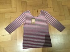 NWT Juicy Couture New & Genuine Girls Age 8 Striped Cotton Top With Juicy Logo