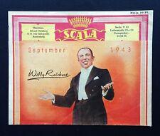 2.WK SCALA VARIETÉ PROGRAMM antik Berlin September 1943 Theater Burlesque WW2