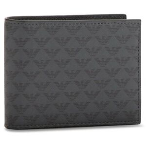 EMPORIO ARMANI Logo Leather Bifold Wallet (Y4R066 YG91J), Black, BNWT, RRP £115