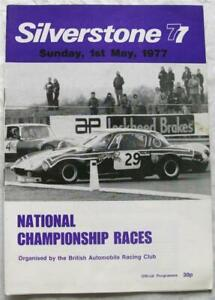 SILVERSTONE 1 May 1977 National Championship Races BARC Official Programme