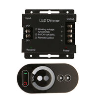 DC12/24V Touch Type Single Color LED Strip Light Dimmer RF Remote Controller