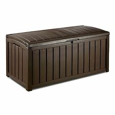 Keter Glenwood Deck Box Outdoor Patio Storage 103 Gallon Outdoor Furniture New