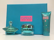 CURIOUS Britney Spears Perfume SET 3.3 OZ +BODY SOUFFLE + BODY SHIMMER NEW BOX