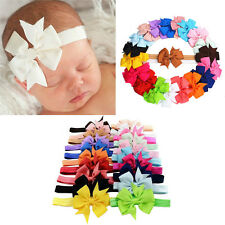 20X Baby Girl Kids Infant Toddler Bow Headband Hair Band Accessories Photo Props