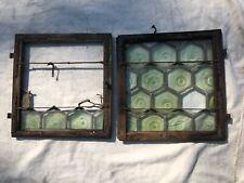 2 Barocke Fenster Butzenglasscheiben   + Konvolut Ersatzteile
