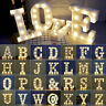 Alphabet LED White Plastic Letters Lights Light Up Letters Number Hanging Sign &