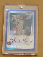Brandon Nimmo 2011 Bowman Chrome Refractor Blue /150 Auto RC Rookie Autograph