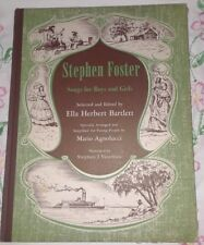 Vintage Stephen Foster Songs for Boys and Girls-Copyright 1945-Music-Sheet Music