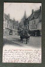 CPA. VERVINS. 02 - Rue du Traité de Paix. 1904. Attelage. Pharmacie Solus...