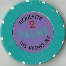 LAS VEGAS PALMS  CASINO TABLE 2  ROULETTE . CASINO CHIP