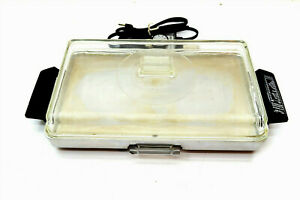 Vintage PRESTO Automatic Electric Griddle WITH Original Glass Lid & Drip Tray