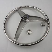 """Stainless Steel Boat Steering Wheel 3 Spoke 13-1/2"""" Dia Practical"""