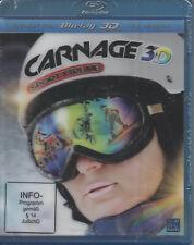 Carnage 3D Sport Extreme Blu Ray NEU Sport Hoch drei Drag-Racing Wakeboarden