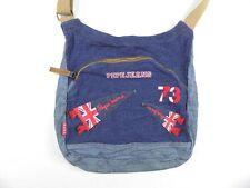 Pepe Jeans London Denim Shoulder Bag UK Flag Pennants