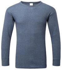 Fortress Thermal Long Sleeve T-Shirt Vest Large Denim Blue Castle Clothing 801