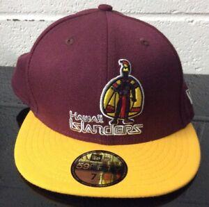 Hawaii Islanders New Era Maroon Hat Fitted 7 1/4 Minor League Baseball *LOOK*