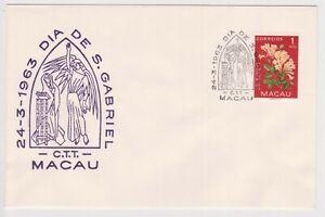 (K159-36) 1963 Macau 1A flowers DIA DE S. Gabriel (AI)