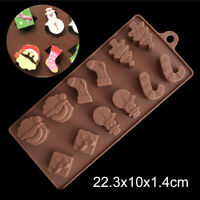 3D Christmas Silicone Cake Decorating Mold Candy Cookie Chocolate Baking Mold