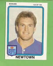 1981 NEWTOWN JETS SCANLENS RUGBY LEAGUE  CARD #123  MARK O'BRIEN