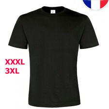 T-shirt NOIR manches courtes  B&C Taille XXXL 3XL grande taille