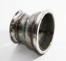 """Steel Exhaust manifold uppipe catalyst Reducer for 4"""" V Band to 3"""" V Band Flange"""