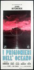 CINEMA-locandina I PRIGIONIERI DELL'OCEANO - HITCHCOCK