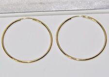 9 CT YELLOW GOLD LADIES 30mm SLEEPER HOOP EARRINGS