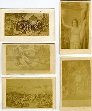 PHOTO CDV dos nu Guerre FRANCO-PRUSSE 1870 lot de 5 cartes d'après tableau