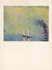 "1959 Vintage EMIL NOLDE ""LUMINOUS SEA"" SAILBOATS LOVELY COLOR Offset Lithograph"