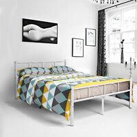 Full Twin Size Platform Metal Bed Frame Mattress Foundation Headboard Footboard