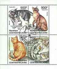 Timbres Chats Centrafrique 2774/7 o année 2013 lot 13183 - cote : 20 €