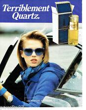 PUBLICITE ADVERTISING  046  1985  Molyneux parfum Quartz