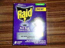 Raid Bed Bug Detector & Trap - 8 Count - NEW