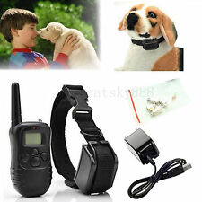 Dog Training Collar Remote Waterproof Rechargeable Beep Shock Electronic Collar