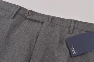 Incotex NWT Dress Pants Size 35 Gray Melange Flannel Wool Matty $460