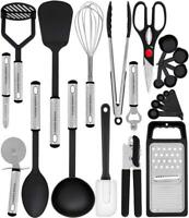 Kitchen Utensil Set - 23 Nylon Cooking Utensils - with Spatula - Gadgets...