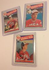 3 USA Olympic Baseball 1984 Players Cards 2 Autographs Cory Snyder Don August