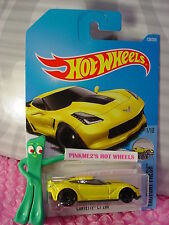 CORVETTE C7 Z06 #128✰yellow;black pr5✰Factory Fresh✰2017 i Hot Wheels case F/G